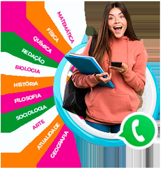 Estudante impressionada com disciplinas e grupo do whatsapp