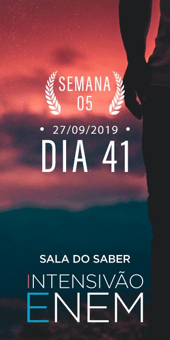DIA 41 - SEMANA 5 - INTENSIVÃO ENEM