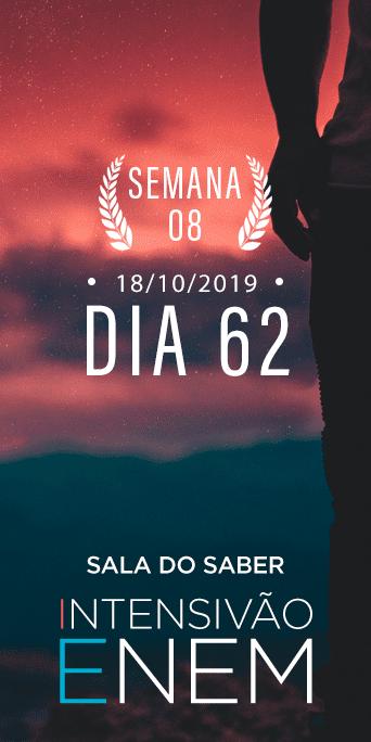 DIA 62 - SEMANA 8 - INTENSIVÃO ENEM